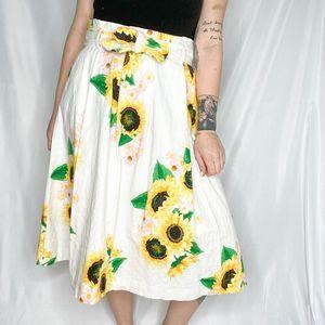 Eva Mendes   Women's sunflower midi skirt   Sz 8